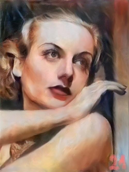 Carole Lombard by baudet